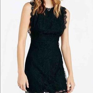 Backless Black Lace Dress
